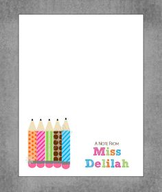 Personalized Notepads - Teacher Notepad