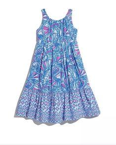 8deb6b00487c Lilly Pulitzer My Fans Maxi Dress Girls Sz XL 14-16 NWT /