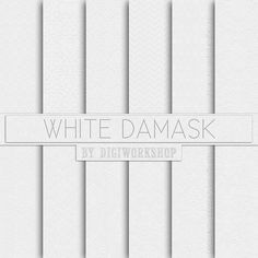 """#White #damask digital paper: """"White Damask""""  12 white damask digital paper set """"White Damask"""" digital paper with white damask backgrounds, classical light patterns in white ... #etsy #digiworkshop #scrapbooking #illustration #creative #clipart #printables #crafting #white"""