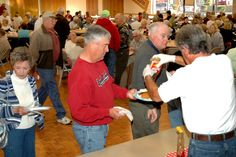 What a great way to start your day!  This community pancake feed is a great place to visit friends and neighbors.  This is just one of the many activities you can enjoy here at Sunland Springs.  Pictured:  Sunland Springs, Mesa, AZ.