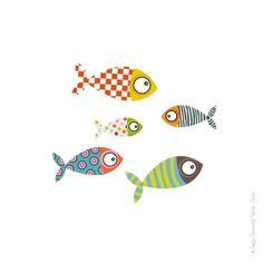 Sticker banc de poissons 2