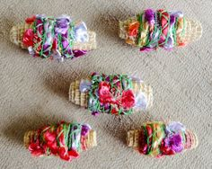 Multi Colored Fabric Beads by klipkreations on Etsy, $10.00