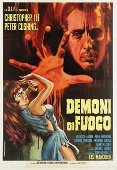 "A poster for the 1967 film Night of the Big Heat, released stateside as ""Island of the Burning Damned,"" (ITALY)"