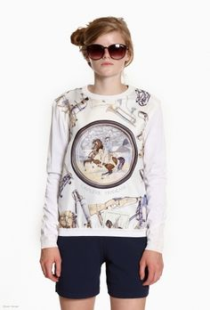 This vintage 1980s Hermes sweater with Napoleon print gives a whole new meaning to Napoleon Dynamite!