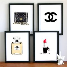 Cuadros de modas para la pared. #Chanel
