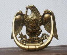 Vintage Brass Eagle Door Knocker Patriotic By RetroStampedRare