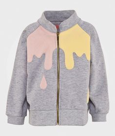 BANG BANG Copenhagen Ice Cream Sweatshirt Grey Melange Grey melange w. Nobs