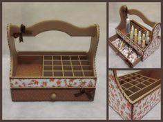 Nail Polish Organizer Wooden Storage Box with by CLVLArtsBrazil, $48.00
