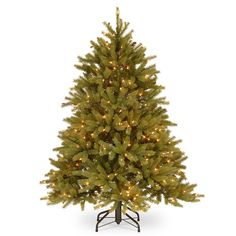 National Tree Company 4.5-ft. Clear Pre-Lit Jersey Fraser Fir Artificial Christmas Tree, Green