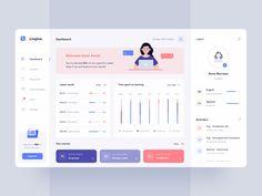 Linglee - Languages learning platform by Aga Ciurysek Web And App Design, Ios App Design, Mobile App Design, Design Websites, Web Design Trends, Design Android, Web Design Quotes, Flat Design, Kpi Dashboard