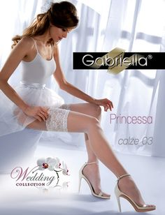 Bryllupstrømper fra Gabriella, finmasket netting med nydelig kant. Gode og behaglige.