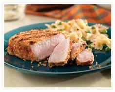 Parmesan-Crusted New York Pork Chops