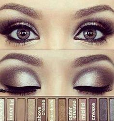Naked Makeup Palette Look - bellashoot.com #nakedpalette