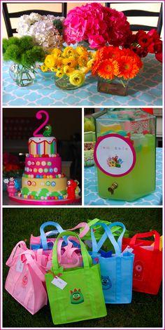 Real Party: Yo Gabba Gabba | Half Baked - The Cake Blog #DIY-Crafts