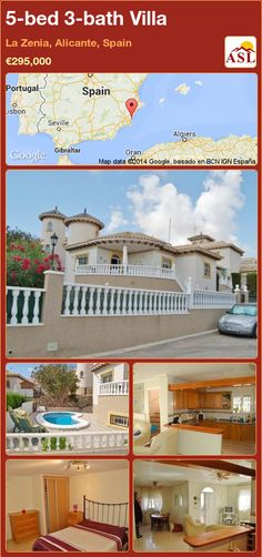 5-bed 3-bath Villa in La Zenia, Alicante, Spain ►€295,000 #PropertyForSaleInSpain