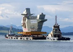 HMS Queen Elizabeth Aft Island Section by Tailothebank, via Flickr