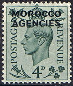Morocco Agencies British Currency 1949 King George VI SG 83 Fine Mint Scott 252 Other Morocco Stamps HERE