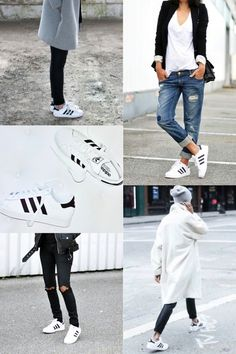 Trend // Adidas white superstar sneaker kids