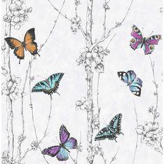 Fresco Wallpaper Flutter Forest Multicoloured