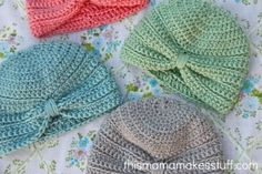 This is the free pattern for the Baby Turban.  And it states....I dare you to make just one!  Cannot wait!!