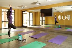 13th and Olive - Just one of our TWO yoga rooms! Brand new student housing in the heart of downtown Eugene! Rates starting at $599 - Call today to schedule your tour! 541.685.1300
