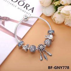 Pandora spiritual feather dreamcatcher angle charm bracelet