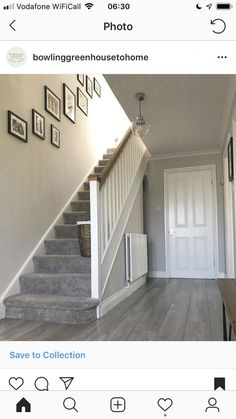 hallway decorating 656470083166244376 - 55 Trendy Home Decored Farmhouse Staircases Source by Carpet Stairs, House Stairs, Flur Design, Home Design, Design Ideas, Wall Design, Key Design, Grey Hallway, Modern Hallway