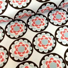 Impressions Home Decor Flowers in Circles by Ty Pennington www.funkyfabrix.com.au fabric