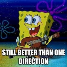 I LOVE ONE DIRECTION  but I have to say sponge bob is better