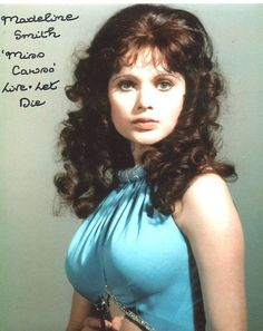 Madeline Smith Photo Signed In Person - James Bond - Gentlemans Club, James Bond Women, Madeline Smith, Hammer Horror Films, Caroline Munro, Alec Guinness, James Bond Movies, Old Movie Stars, Cinema