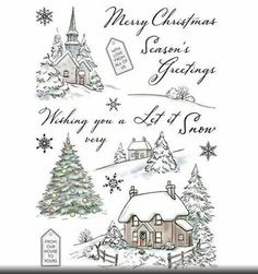Merry Christmas Snowflakes Borders Christmas Tree Elk Lines Stamps Rubber Clear Stamp//Seal Scrapbook//Photo Album Decorative Card Making Clear Stamps