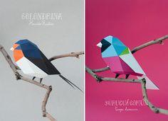 Geometric Paper Birds and Animals by Estudio Guardabosques paper geometric birds animals