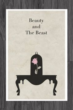 Beauty and the Beast Poster We adore this sleek and simple Beauty and the Beast poster ($14).
