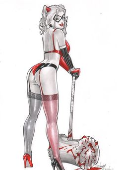 Harley Quinn by Rubismar da Costa Comic Art
