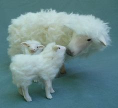 Swedish Sheep with Twins by Colinscreatures on Etsy, $123.00