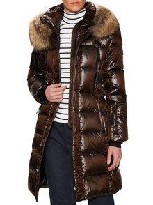 Infinity Fur Trim Puffer Coat