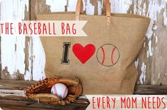 The Baseball Mom Bag... love!