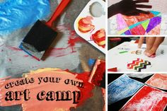 Create Your Own Art Camp - this is a great idea for spring break!