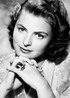 Ingrid Bergman in the prime of her Hollywood career. lmr