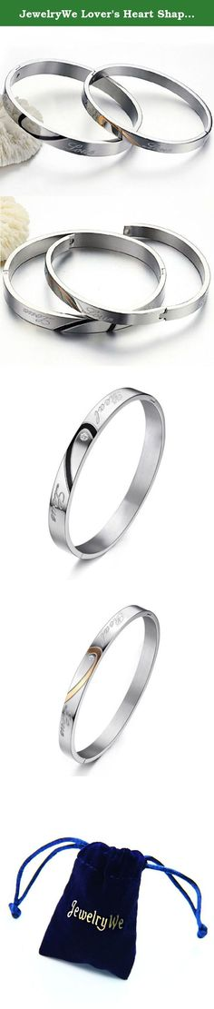 """JewelryWe Lover's Heart Shape Stainless Steel """"Real Love"""" Engraved Promise Couple Bracelets (One Pair). Why choose Stainless Steel Jewelry? Stainless Steel Jewelry does not tarnish and oxidize, which can last longer than other jewelries. It is able to endure a lot of wear and tear. And it is amazingly hypoallergenic. Such advantages make it a more popular accessory. High quality stainless steel has high resistance to rust, corrosion and tarnishing, which requires minimal maintenance...."""
