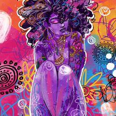 Black Art By Justin Copeland Black Love Art, Black Girl Art, Art Girl, Black Art Painting, Black Artwork, African American Art, African Art, Stylo Art, Tableau Pop Art