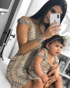Mother Daughter Matching Outfits, Mother Daughter Fashion, Family Outfits, Girl Outfits, Cute Baby Pictures, Future Daughter, Baby Princess, Cute Family, Pregnancy Outfits