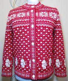 Vest voor volwassene met moomin patroon