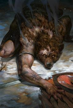 Bear Abomination by Valeriy Vegera Artbook: The Art of the Witcher: Gwent Gallery Collection Witcher Art, The Witcher, Arte Horror, Horror Art, Dark Fantasy Art, Fantasy Artwork, Art And Illustration, Fantasy Creatures, Mythical Creatures