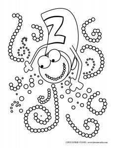 Zesty Kids Coloring Page