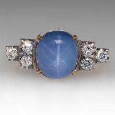 Vintage 4.6 Carat Star Sapphire Ring