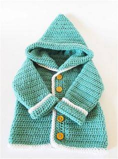 Crochet Cardigan 20 Free Crochet And Knitting Patterns For Cozy Baby Clothes - The most heartwarming image of a mother-to-be is seeing her knit her baby's first booties. Today, not many know how to knit or crochet, but if you are one Crochet Baby Cardigan Free Pattern, Crochet Baby Sweaters, Crochet Baby Clothes, Crochet Patterns, Knitting Patterns, Crochet Jumper, Sweater Patterns, Free Knitting, Baby Patterns