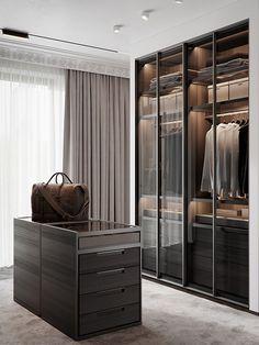 Park Rublevo   Moscow on Behance Walk In Closet Design, Bedroom Closet Design, Wardrobe Design, Closet Designs, Master Bedroom, Luxury Interior, Luxury Furniture, Home Interior Design, Rustic Furniture