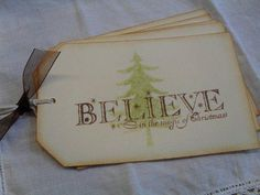 Believe Christmas Tags Handmade Gift Favor Tags - Christmas / Believe in the…