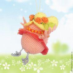 """Купить Совушка """"Спешу-спешу!"""" - оранжевый, сова, игрушка, птица, шляпа с полями, розочки, вязаная Dinosaur Stuffed Animal, Toys, Animals, Activity Toys, Animaux, Animal, Animales, Toy, Animais"""